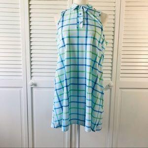 JUDE CONNALLY Harlee Seaside Plaid Swing Dress